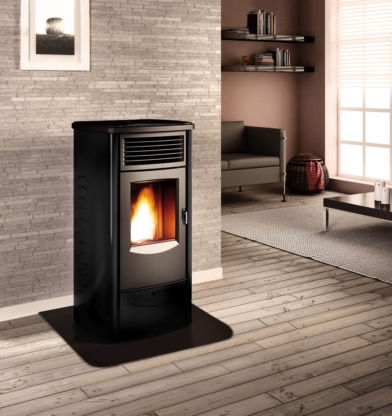 bosca spirit 500 pellet stove poele aux granules. Black Bedroom Furniture Sets. Home Design Ideas